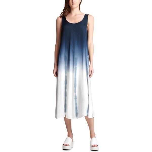 9e341ffffa Shop DKNY Womens Midi Dress Ombre Sleeveless - L - Free Shipping On ...