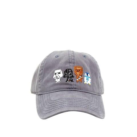 Star Wars 8 Bit Characters Dad Black Hat Cap Boys teens Adult