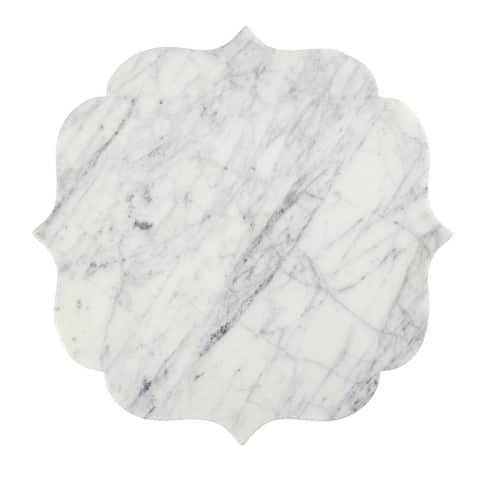 """16"""" White and Lavender Gray Marble Board"""
