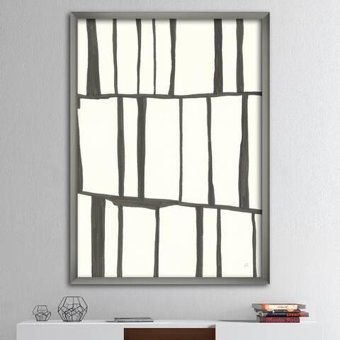 Designart 'minimalist black and white I' Transitional Framed Art Print