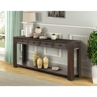 """Black Console Table with Storage Drawers-64""""× 15""""× 30"""""""