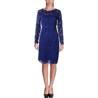 Nicole Miller Womens Cocktail Dress Lace Lined
