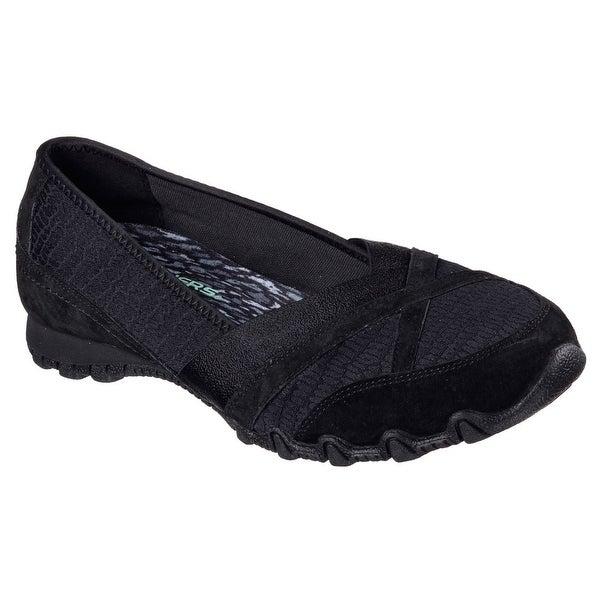 Skechers 49283 BLK Women's BIKERS-SATINE Loafer