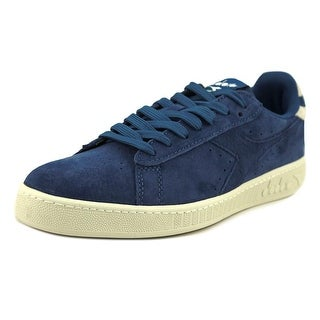 Diadora Game Low S Men  Round Toe Suede Blue Sneakers