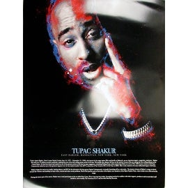 Tupac Shakur Poster with Biography (18x24)