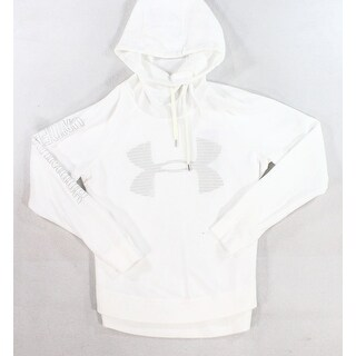 Under Armour NEW White Size Medium M Pull Over Loose Printed Sweater