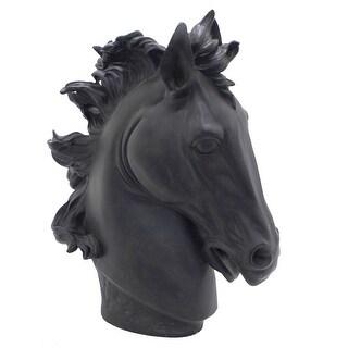 Three Hands Black Resin Horse Head Figurine