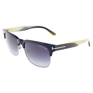 Tom Ford FT0386/S 89W LOUIS Blue/Beige Horn Clubmaster sunglasses