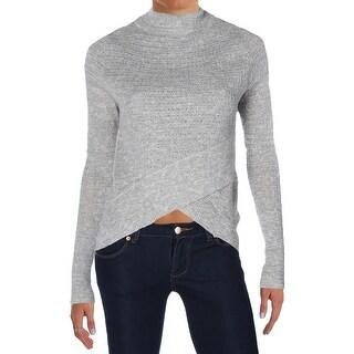 Free People Womens Mock Sweater Knit Boho Wrap