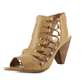 Vince Camuto Eliaz Women Open Toe Leather Tan Sandals