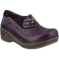 L'Artiste by Spring Step Women's Burbank Purple Leather
