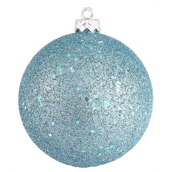 "8"" Baby Blue Sequin Finish Ball"