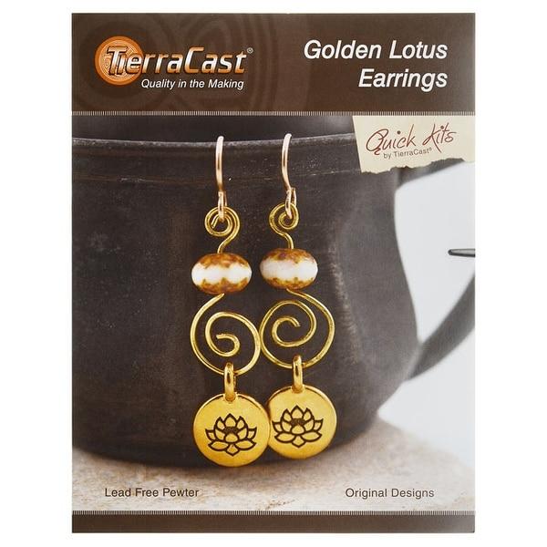 TierraCast Jewelry Kit, Golden Lotus Earrings, 1 Kit