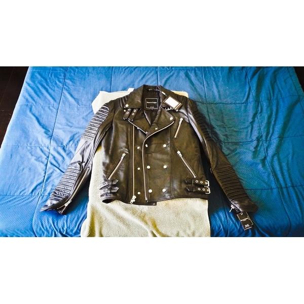 8f3ab9d83 Shop Mason & Cooper Men's The Empire Leather Moto Jacket - Free ...