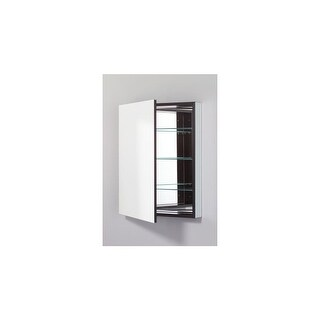 "Robern PLM2430RE PL 23"" x 30"" Frameless Medicine Cabinet Right Hinged with Flat Mirror and Electrical Outlet"