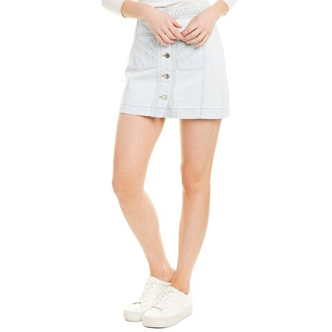 Veronica Beard Braided Waist Mini Skirt