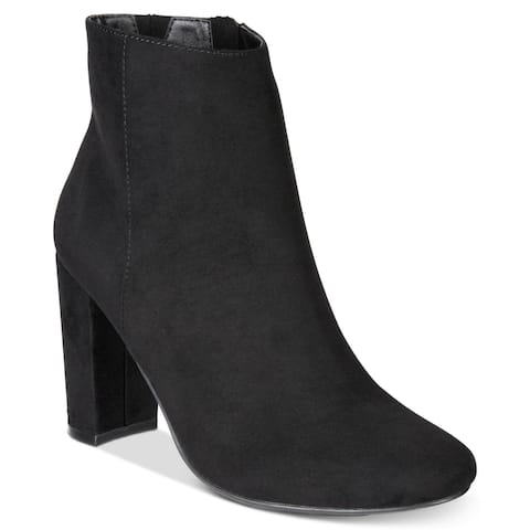 Material Girl Womens Cambrie Suede Closed Toe Ankle Fashion Boots