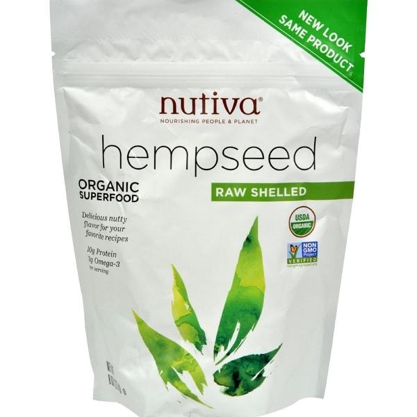 Nutiva Certified Organic Hempseed - ShelLED - 8 oz - Case of 6