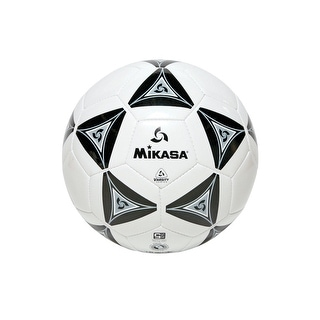 Mikasa No 3 Deluxe Cushioned Soccer Ball, Black/White
