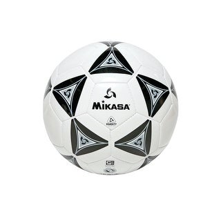 Mikasa No 5 Deluxe Cushioned Soccer Ball, Black/White