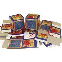 "Club Pack of 1440 Trumpeting Angel Mini Gift Box Christmas Ornaments 2"" - BLue"