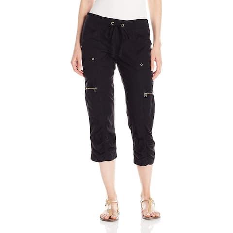 XCVI Women's Black Size Small S Cargo Capris Cropped Stretch Pants