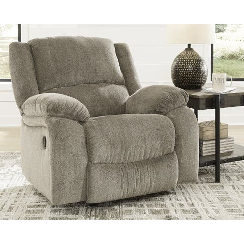 Draycoll Contemporary Rocker Recliner, Pewter