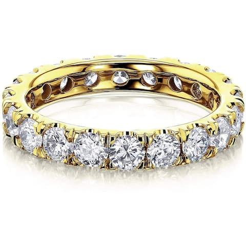 Annello by Kobelli 14K Gold Lab Grown Diamond Eternity Ring (DEF/VS)