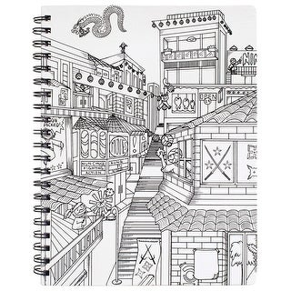 "Hall Pass Adult Coloring Spiral Bound Sketchbook 8.5""X11""-Ninja"