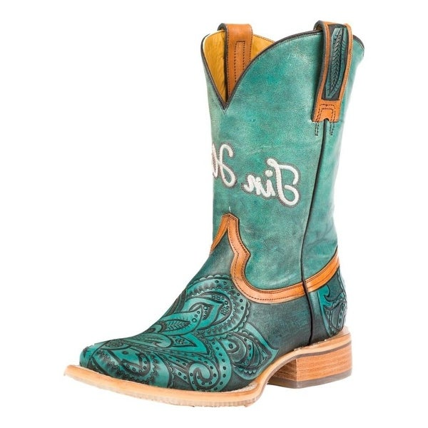 Tin Haul Western Boots Womens Cowboy Paisley
