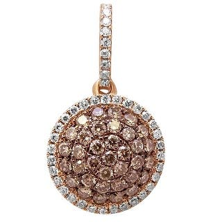 Prism Jewel 0.41Ct Brown Color Diamond With Natural Diamond Round Shaped Pendant - White G-H|https://ak1.ostkcdn.com/images/products/is/images/direct/ba486b64d76a0d4084091805d67e09ff150c322c/Prism-Jewel-0.41Ct-Brown-Color-Diamond-With-Natural-Diamond-Round-Shaped-Pendant.jpg?impolicy=medium
