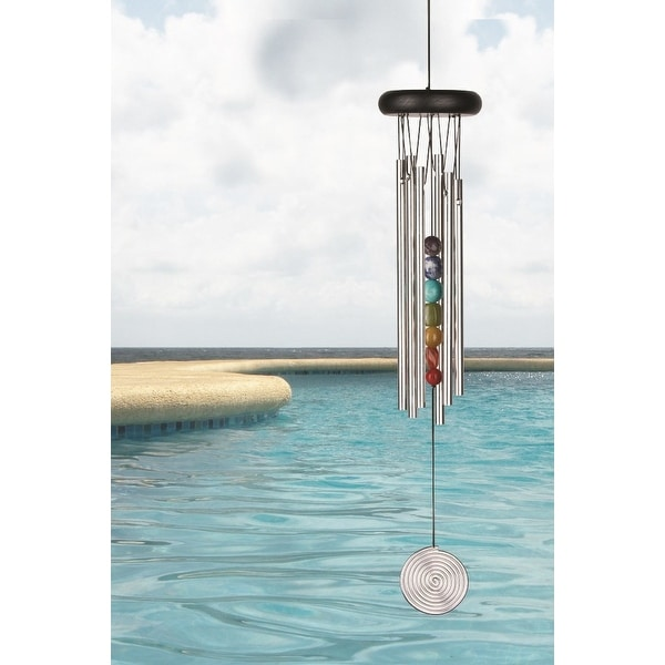 Woodstock Signature Collection 17 1 2 Inch Chakra Chime Seven Stones