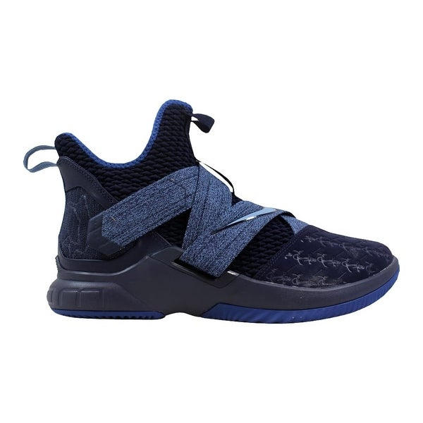80d0dc270fa Shop Nike Lebron Soldier XII 12 Blackened Blue Work Blue AO2609-401 ...