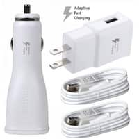 T-Mobile Samsung Galaxy Adaptive Fast Car and Wall Charger with Micro 2 Micro USB cables for All T-Mobile Samsung Phones