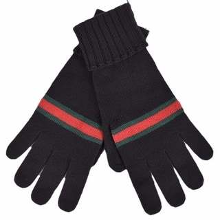 Gucci Men's 294732 BLACK Green Red Web Stripe Wool Gloves Mittens LARGE|https://ak1.ostkcdn.com/images/products/is/images/direct/ba49619cf3dc92045398cb25a373948f1eb9ee4c/New-Gucci-Men%27s-294732-BLACK-Green-Red-Web-Stripe-Wool-Gloves-Mittens-LARGE.jpg?impolicy=medium