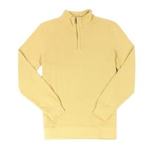 Tasso Elba NEW Yellow Honey Mens Size 2XL 1/2 Zip Mock Neck Sweater|https://ak1.ostkcdn.com/images/products/is/images/direct/ba497a5b3103e922cbbe429b98a68ef79a0d277f/Tasso-Elba-NEW-Yellow-Honey-Mens-Size-2XL-1-2-Zip-Mock-Neck-Sweater.jpg?impolicy=medium