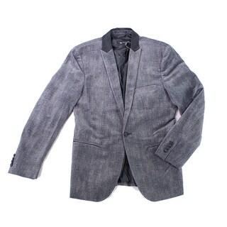 INC NEW Gray Mens Size Medium M Slim-Fit Herringbone Suit Jacket