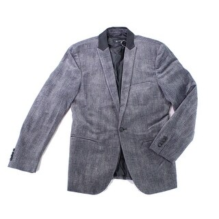 INC NEW Gray Mens Size Medium M Slim-Fit Herringbone Suit Jacket