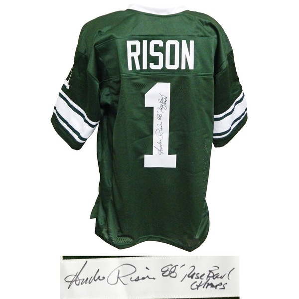 fdd1728bf62 Andre Rison Green Throwback Custom College Football Jersey w88 Rose Bowl  Champs