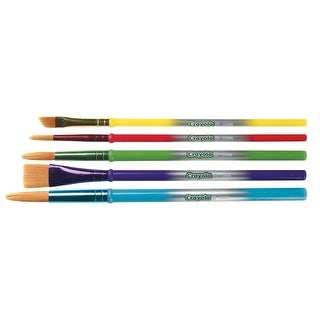 Crayola Round Synthetic Paint Brush Set, Assorted Size, Assorted Color, Set of 5