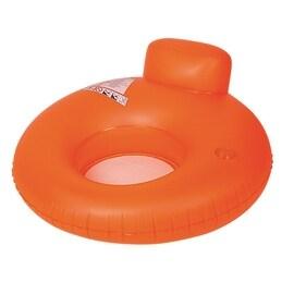 "48"" Neon Orange Water Sofa Inflatable Swimming Pool Inner Tube Lounger Float"