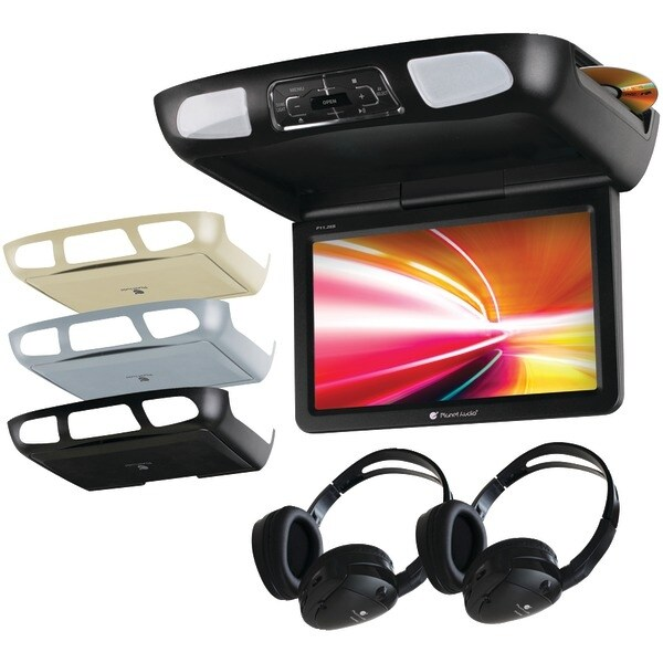 "Planet Audio P11.2Es 11.2"" Ceiling-Mount Tft Dvd Player With Built-In Ir Transmitter, Fm Modulator & 3 Color Housings"