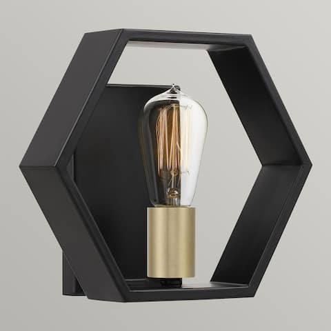 Ana Interiors One Light Wall Sconce Bismarck Earth Black - Exact Size