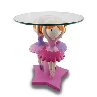 Children`s Triple Ballerina Pedestal Table With Glass Top