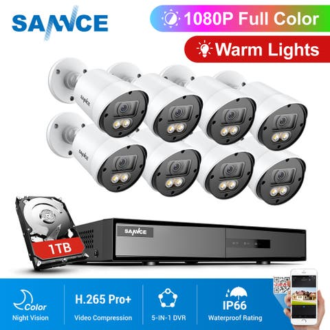 SANNCE 1080P Security Camera System with 1TB