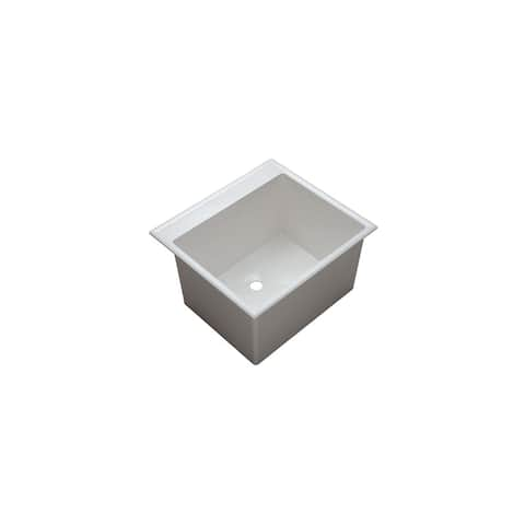 "PROFLO PFLT2522D 24-1/2"" Single Basin Drop-In Composite Laundry Sink"