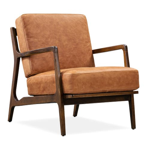 Poly and Bark Verity Leather Lounge Chair