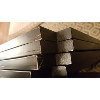 Simple Living Slat Black Rubberwood Dining Chairs Set Of