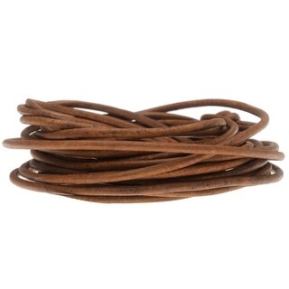 Link to Genuine Leather Cord, Round 2mm, by the Yard, Natural Light Brown Similar Items in Fashion Jewelry Store