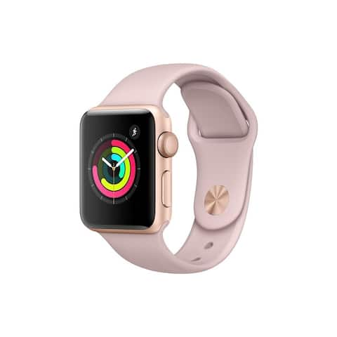 Apple Watch Series 3 38mm w/GPS Rose Gold Case & Pink Band (Refurbished) - Rose Gold